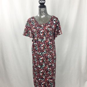 TAHARI My Perfect Shape Floral Dress